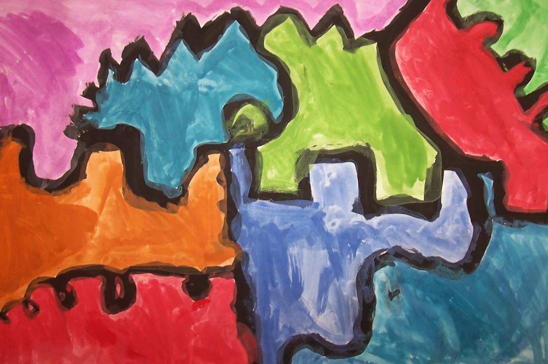 Second grade abstract line designs switzer elementary for Different types of abstract art